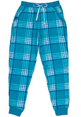 North 15 Womens Super Cozy Minky Fleece Pajama Bottom with Waist & Bottom Rib (S - 4XL)