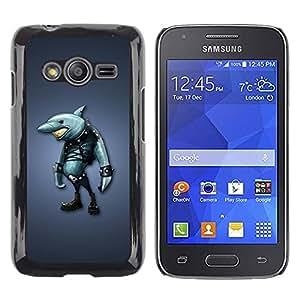 iKiki Tech / Estuche rígido - akula shark odezhda siniy fon - Samsung Galaxy Ace 4 G313 SM-G313F