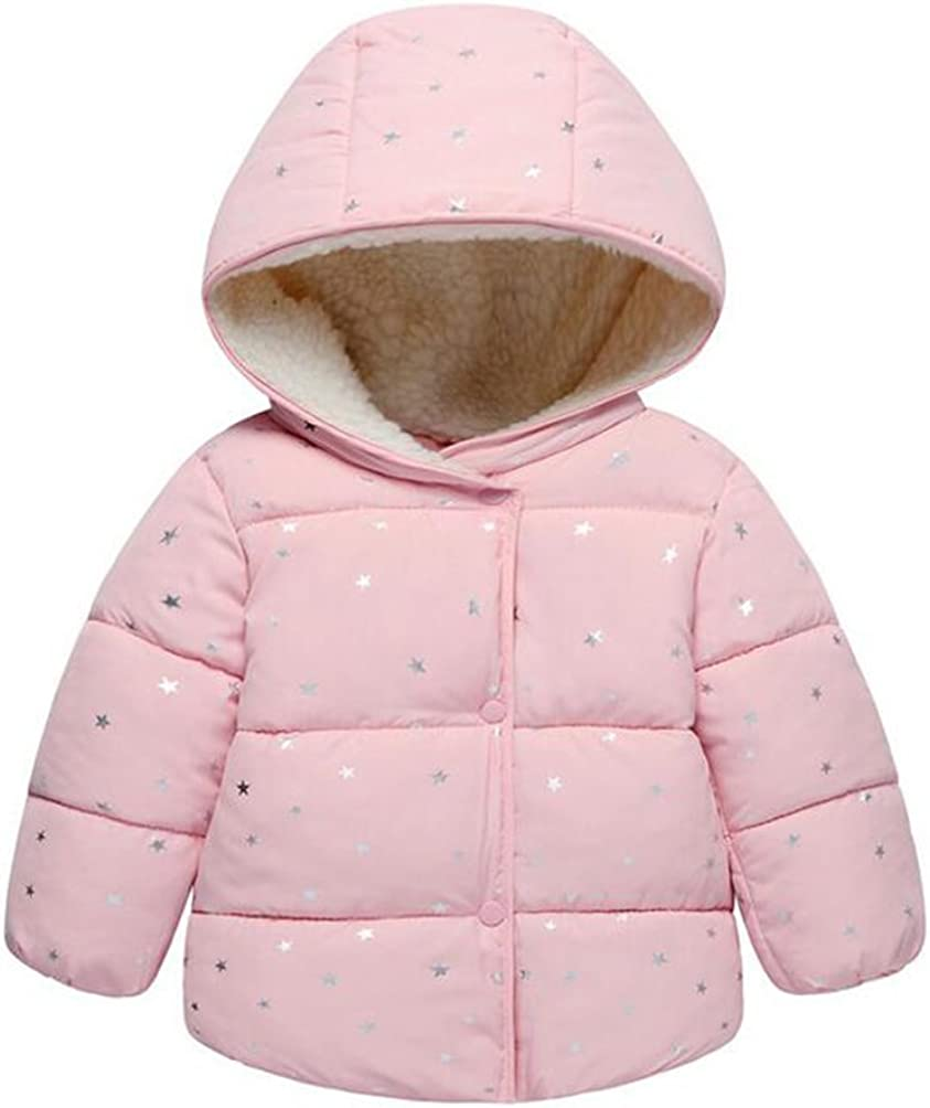 TAIYCYXGAN Baby Boys Girls Winter Puffer Coat Unisex Kids Fleece Lined Jacket Hoodies Warm Outwear Overcoat