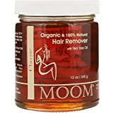 Hair Removal Wax Cream - Moom Organic Hair Removal With Tea Tree Refill Jar - 12 oz- Pack of 1
