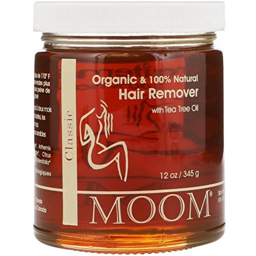 Body Sugar Wax (Moom Organic Hair Removal With Tea Tree Refill Jar - 12 oz- Pack of 1)