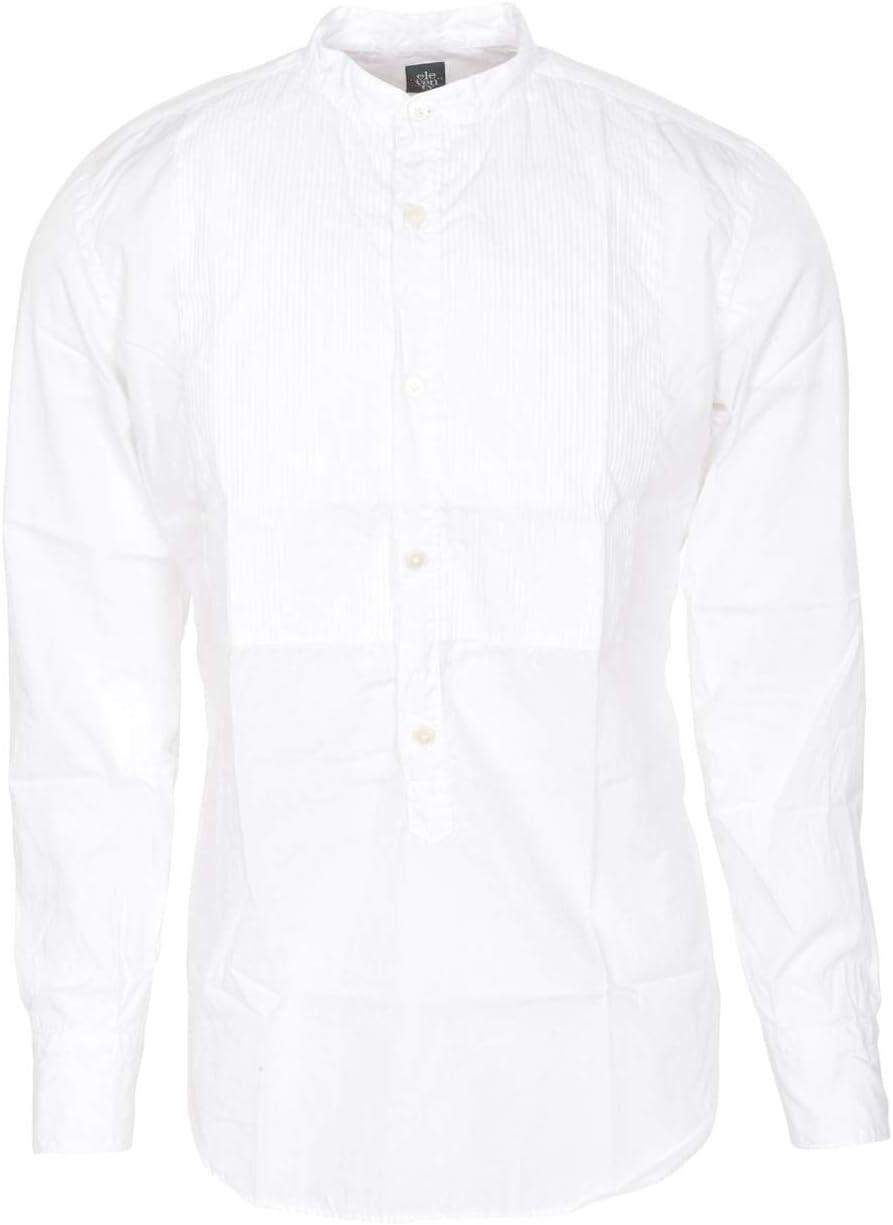 Eleventy Camisa Hombre Weiss algodón Slim Fit Camisa de Smoking 38: Amazon.es: Deportes y aire libre