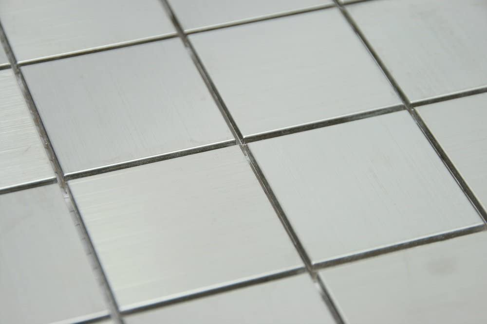 Stainless Steel Metal 2x2 Square Tile