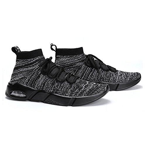 Husksware Zapatillas Para Correr Con Espuma Fresca Para Hombre Zapatillas Respirables Fot Sport Walking Grey