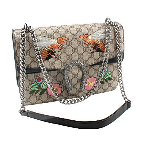 Bag for Crossbody Ladies Black Bags Designer Womens Single Fashion Handbag Bag Purse Messenger Bee for Shoulder EqdwT7S