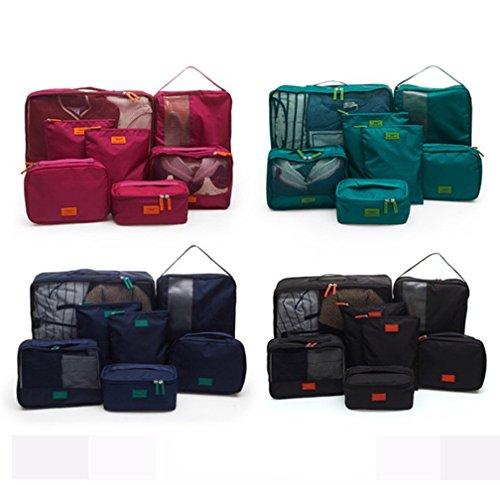 Waterproof 5-Piece Packing Bags (Red) - 5