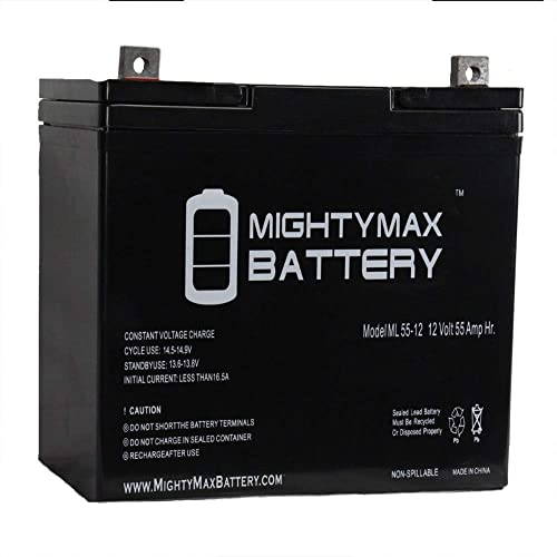 Mighty Max Battery 12V 55Ah Power Boat Pontoon Electric Trolling Motor Deep Cycle Battery.