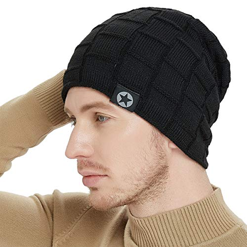 Bodvera Winter Knit Warm Hat Thick Soft Fleeced...