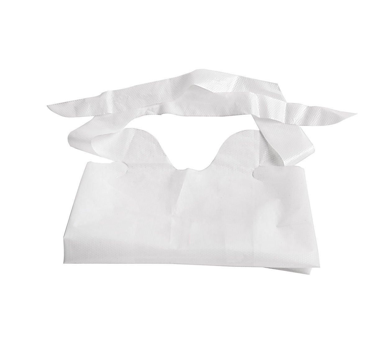 Medline NON24267A Waterproof Plastic Bibs, 15'' x 20'', White (Pack of 500)