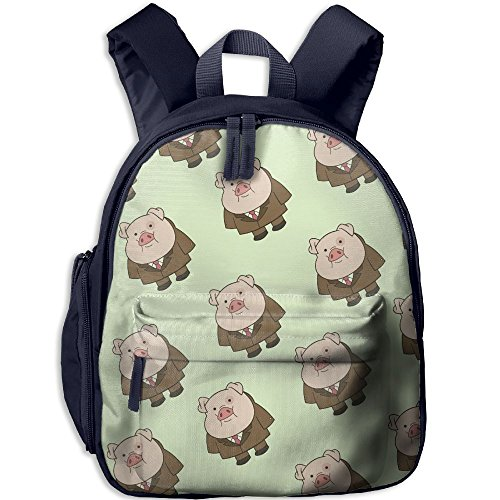 Flying Pigs Lightweight Book Bag Lovely Animal Kid's School Daypack Camp Children Kindergarten Backpacks 12.5