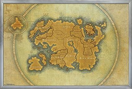Amazon.com: Trends International Elder Scrolls Online-Map Wall ...