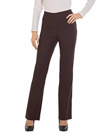 67b06dd69d2 Red Hanger Bootcut Dress Pants for Women -Stretch Comfy Work Pull on Womens  Pant Brown