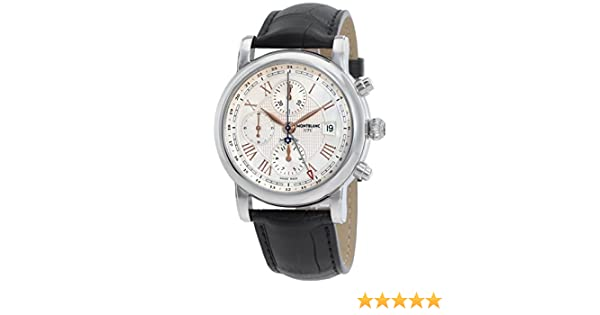 Amazon.com: MontBlanc Star Roman UTC Chronograph Automatic Mens Watch 113880: Montblanc: Watches