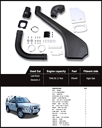 Liquor Car New for Land Rover Discovery 3 LR3 2004 2005 2006 2007 2008 2009 Air Ram Intake Snorkel Kit Set