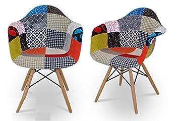 Stuhl Eames DAW Patchwork 80 Cm