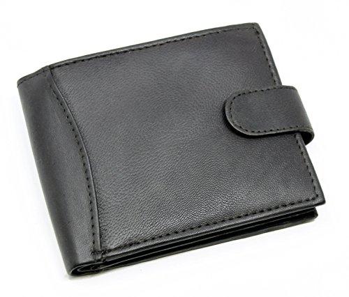 Noir Qualité En De D'identité Ras® 304 Cuir Black Pour noir Carte 2 12 Hommes Billets Section Doux Sections monnaie Possède Cartes Porte qE8S1