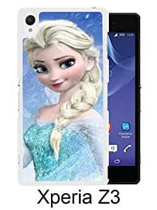 Beautiful And Unique Designed Case For Sony Xperia Z3 With Frozen 2 white Phone Case