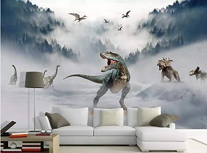 Wallpaper 3d Landscape Glacial Forest Dinosaur World Custom