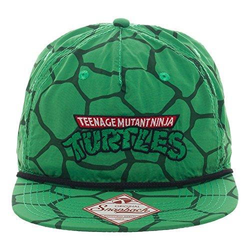 TMNT Green Shell Panel Snapback Cap Hat New Teenage Mutant Ninja Turtles