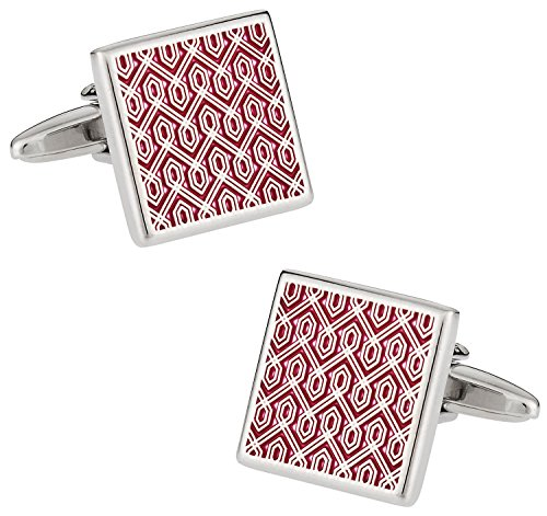 Cuff-Daddy Red Tapestry Middle East Cufflinks with Presentation Box