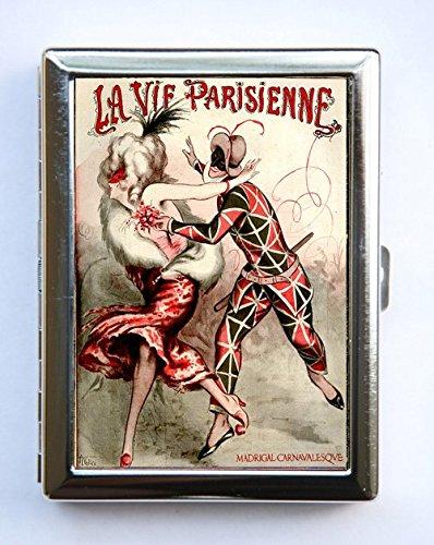 Art Deco La Vie Parisienne Court Jester Cigarette Case id case Wallet Business Card Holder #3