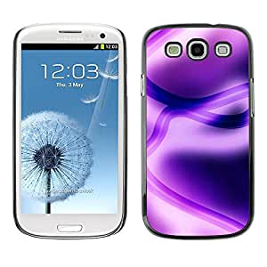 LECELL -- Funda protectora / Cubierta / Piel For Samsung Galaxy S3 I9300 -- Abstract Purple --