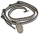Chan Luu Double Solar Quartz Charm Wrap Bracelet