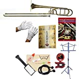 RS Berkeley TB704 Elite Series Bb Trombone with F Attachment, Case & Bonus RSB MEGA PACK w/Standard of Excellence Book