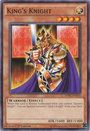 Yu-Gi-Oh! - King's Knight (DPBC-EN014) - Duelist Pack 16: Battle City - 1st Edition - Common (Of King Knights)