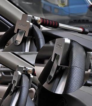 FREESOO Lenkradschloss Auto Steering Wheel Lock Car Anti Theft Lock Safety Sicherheitshammer Auto Diebstahlsicherung Lenkradkralle Lenkradschloss