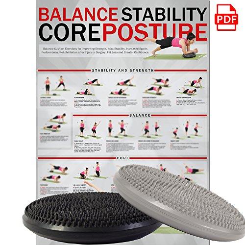 Coussin d'équilibre Deluxe - Coussin à air - Coussin d'assise - Balance Pad - 33 cm