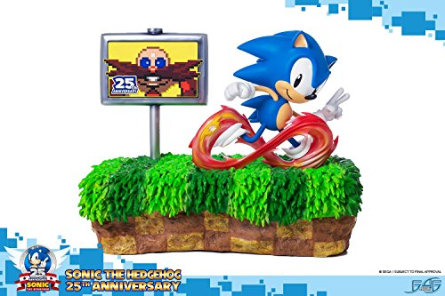 Polystone Diorama - First4Figures Sonic The Hedgehog: Sonic Zoom Green Hill Zone 25th Anniversary Diorama Polystone Statue by