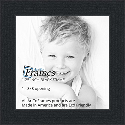 Amazon.com - ArtToFrames 8x8 inch Black Picture Frame, WOMFRBW72079 ...