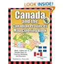 Canada and the Canadian Provinces Map Coloring Book