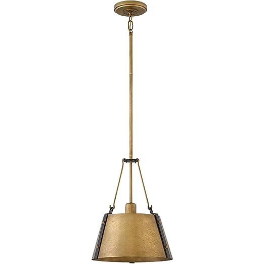 Amazon.com: Colgantes 1 lámpara con acabado de latón rústico ...