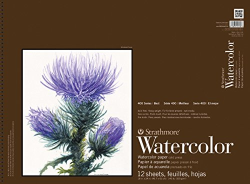 Price comparison product image Strathmore 18-Inch by 24-Inch Watercolor Cold Press Paper Pad,  12-Sheet
