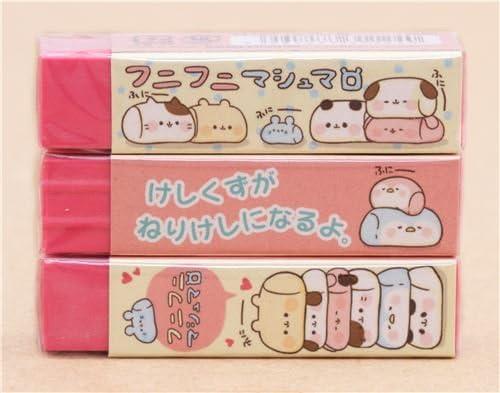 ホットピンクFunny Animal Marshmallow Square消しゴムby Kamio日本から