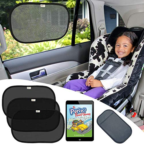 """COOL BABY Side Window Car Sun Shades for Infants Passengers Pets Carseats 