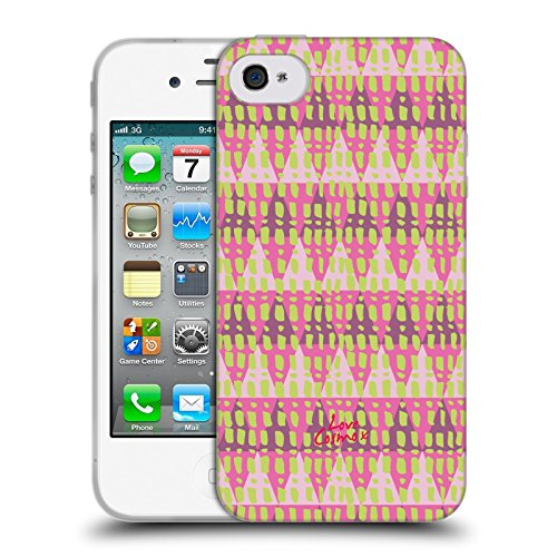 Official Cosmopolitan Triangles Aztec Brights Soft Gel Case for Apple iPhone 4 / 4S