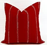 Carlo lipstick red Pillow cover. Sham cover. throw Pillow cover. Select size.