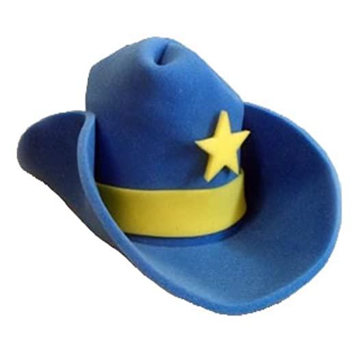 a08a6f9958b04 Amazon.com  Novelty Giant Foam Cowboy Hat Blue  Clothing