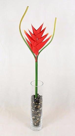 Heliconia Fleur Artificielle Tropical Fleur Stem Real Touch
