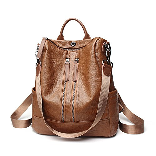 Women Backpack Purse PU Leather Fashion Travel Casual Rucksack Lightweight School Shoulder Bag by QANPE