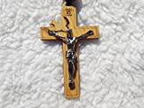 Super Holy Mix Beads sanctified Rosario Natural Wood Chain Jesus Cross 32'' Inches Wall Rosary Or Wearing Rosary