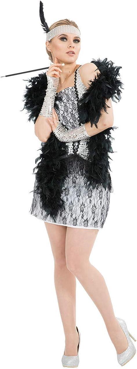 ORION COSTUMES Disfraz de Jovencilla de los años 20 Plateado Jazz para Mujeres