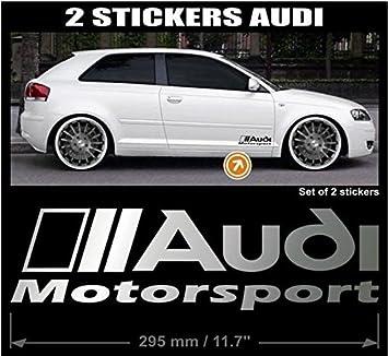 2 X Audi Motorsport Auto Aufkleber Aufkleber 29 5 Cm Quattro Tt Rs