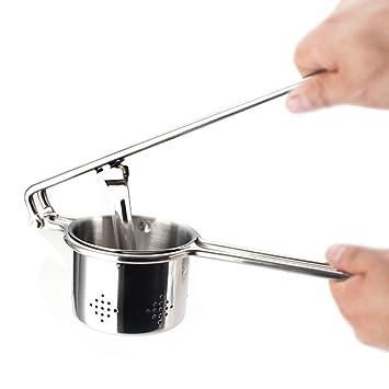 Exprimidor Saludable de Acero Inoxidable Tradicional con Proceso de prensado en frío Exprimidor de Naranja de Mano Cocina o Comedor Producción de puré de ...