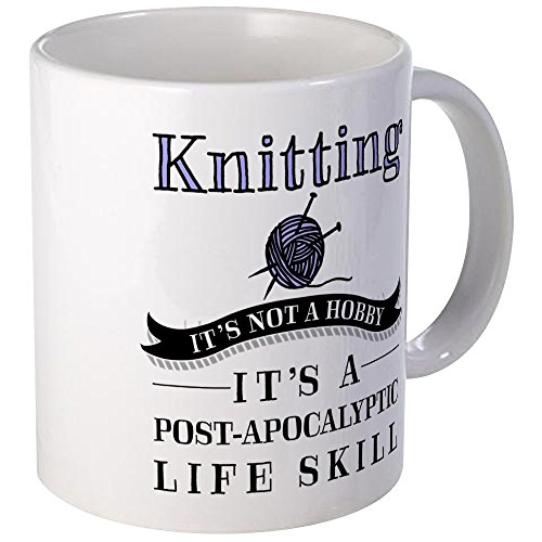 CafePress Knitting Hobby Unique Coffee
