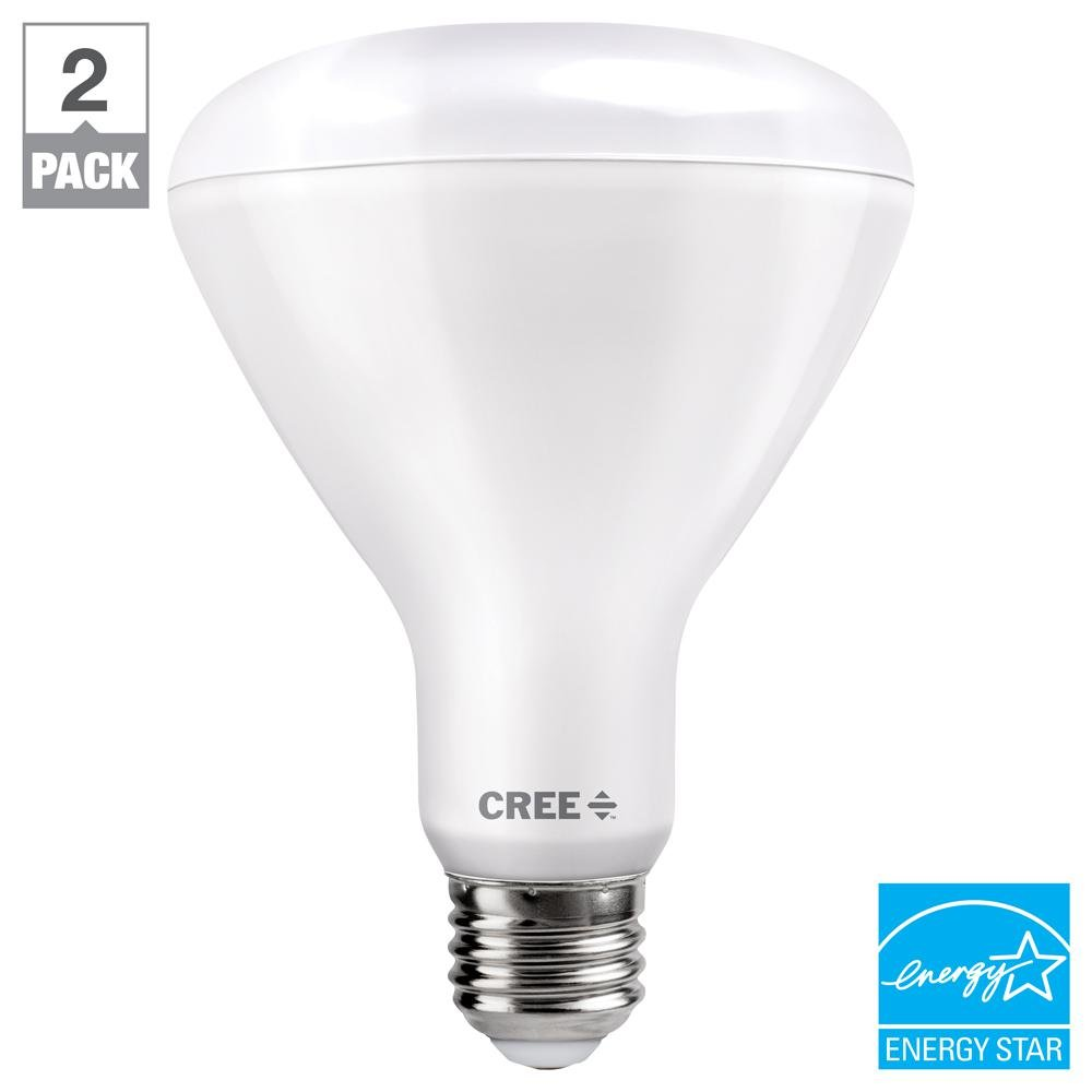Cree 65W Equivalent Soft White (2700K) BR30 Dimmable Exceptional Light Quality LED Light Bulb (2-Pack) by CREE