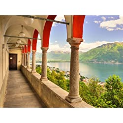 Summer on Lake Maggiore Art Poster Print, 32x24